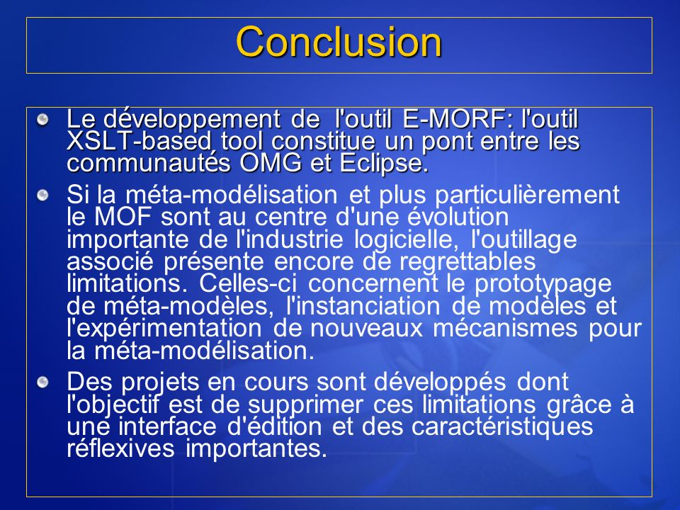RT5 I.N.S.A.T 2005/2006Conclusion.