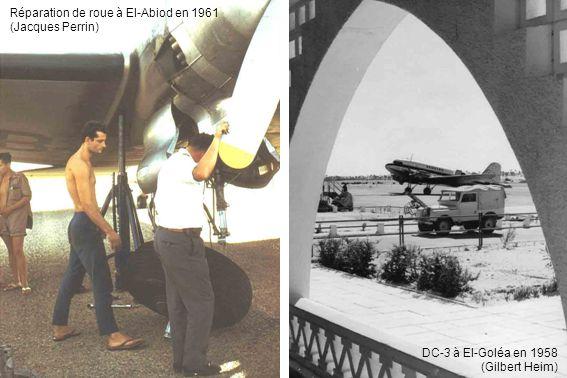 Réparation de roue à El-Abiod en 1961