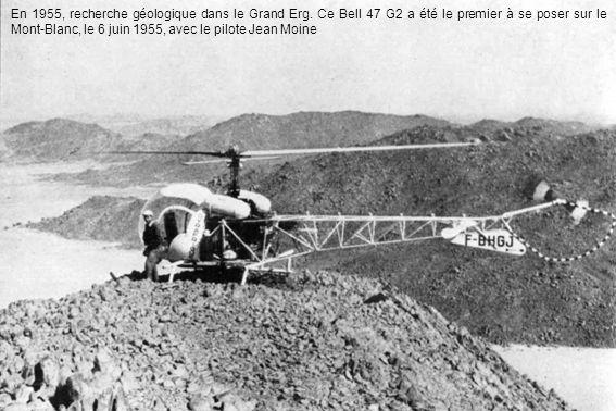 En 1955, recherche géologique dans le Grand Erg