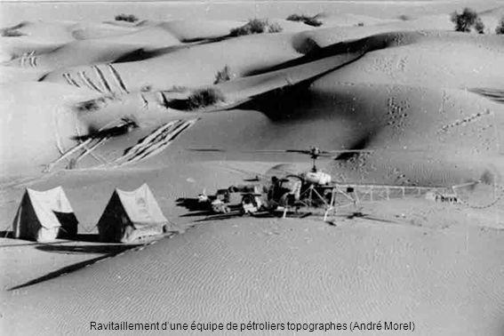 Ravitaillement d'une équipe de pétroliers topographes (André Morel)