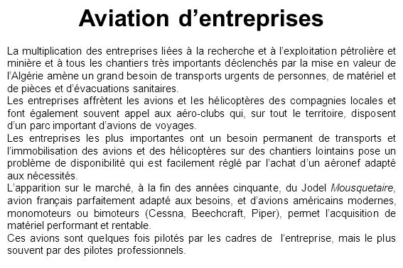 Aviation d'entreprises