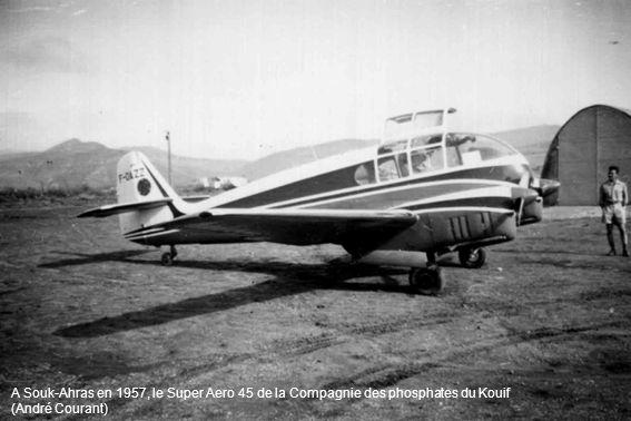 A Souk-Ahras en 1957, le Super Aero 45 de la Compagnie des phosphates du Kouif