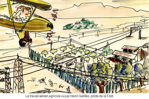 Le travail aérien agricole vu par Henri Gantès, pilote de la TAM