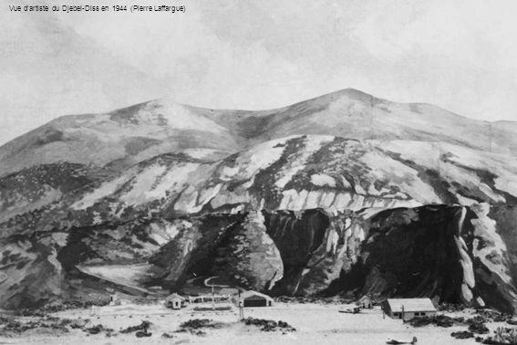 Vue d'artiste du Djebel-Diss en 1944 (Pierre Laffargue)