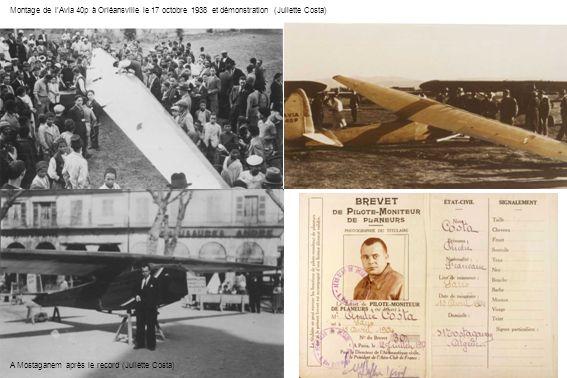 Montage de l'Avia 40p à Orléansville le 17 octobre 1938 et démonstration (Juliette Costa)