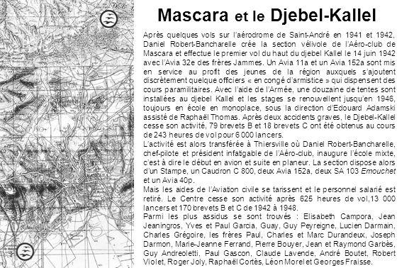 Mascara et le Djebel-Kallel