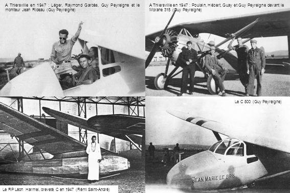 A Thiersville en 1947 : Léger, Raymond Garbès, Guy Peyreigne et le moniteur Jean Rideau (Guy Peyreigne)