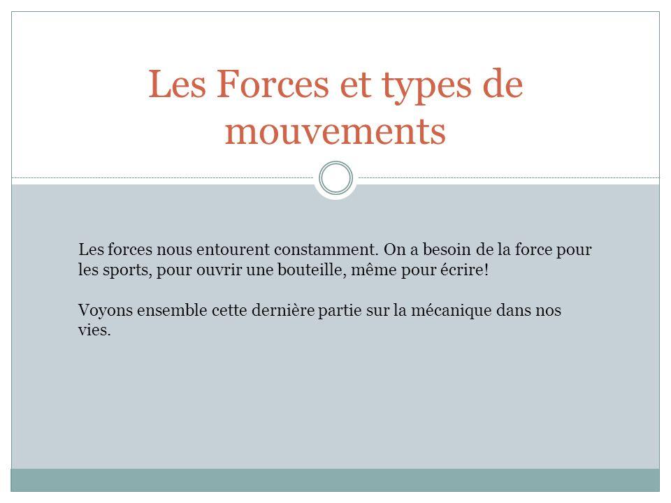 Les Forces et types de mouvements