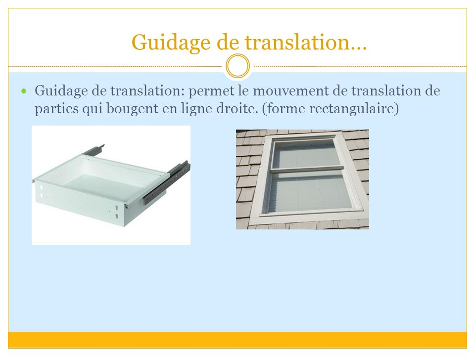 Guidage de translation…