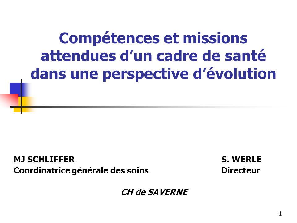 Compétences et missions attendues d'un cadre de santé dans une perspective d'évolution