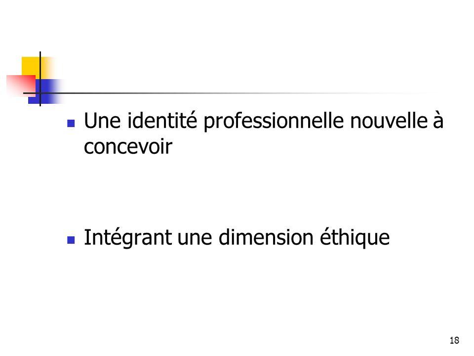 Une identité professionnelle nouvelle à concevoir