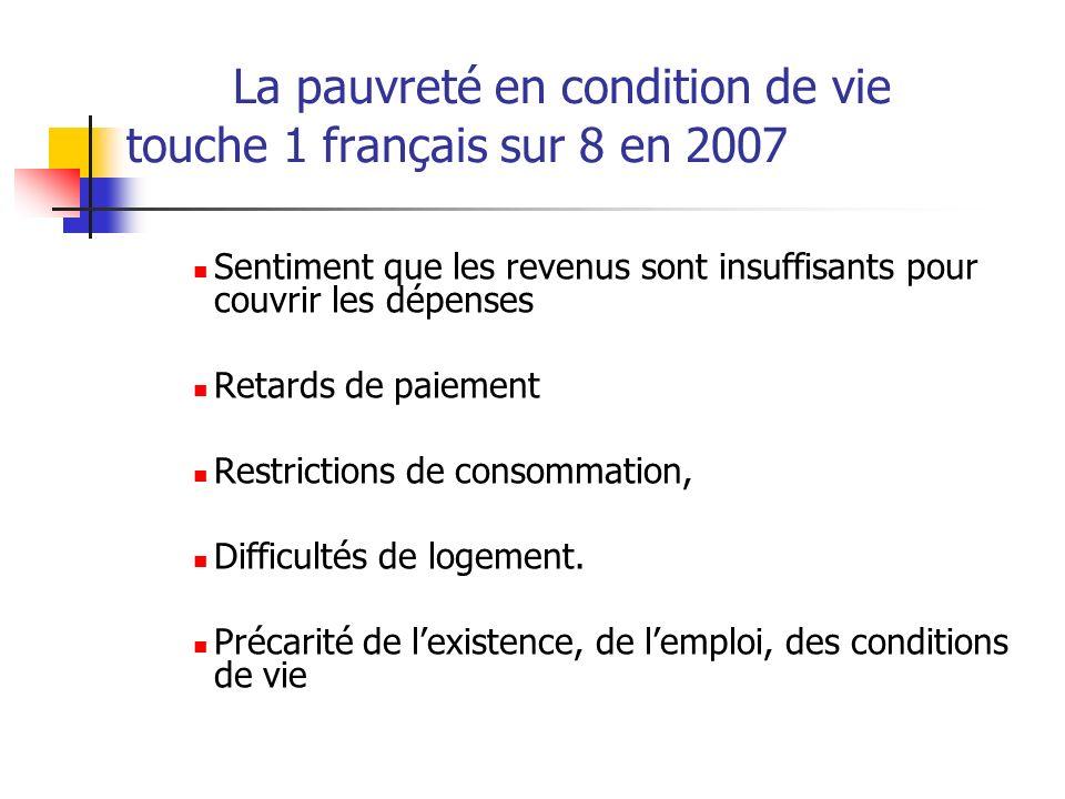 La pauvreté en condition de vie touche 1 français sur 8 en 2007