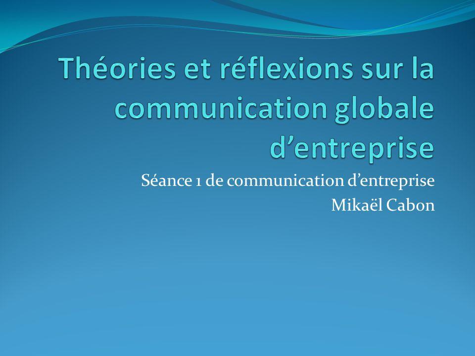 Théories et réflexions sur la communication globale d'entreprise