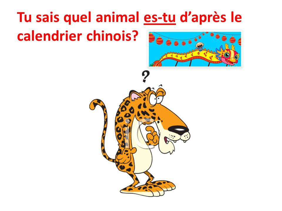 Tu sais quel animal es-tu d'après le calendrier chinois