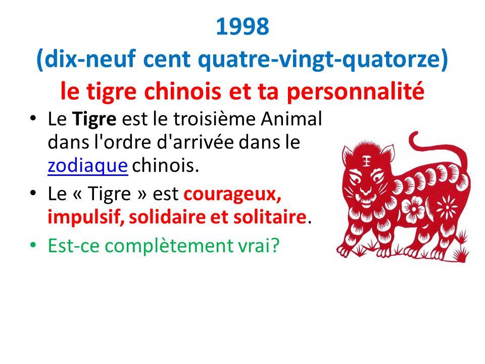 1998 (dix-neuf cent quatre-vingt-quatorze) le tigre chinois et ta personnalité