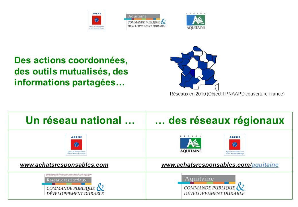 Réseaux en 2010 (Objectif PNAAPD couverture France)