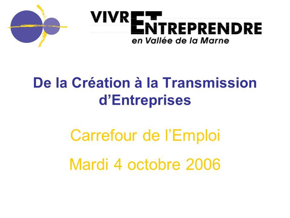 De la Création à la Transmission d'Entreprises