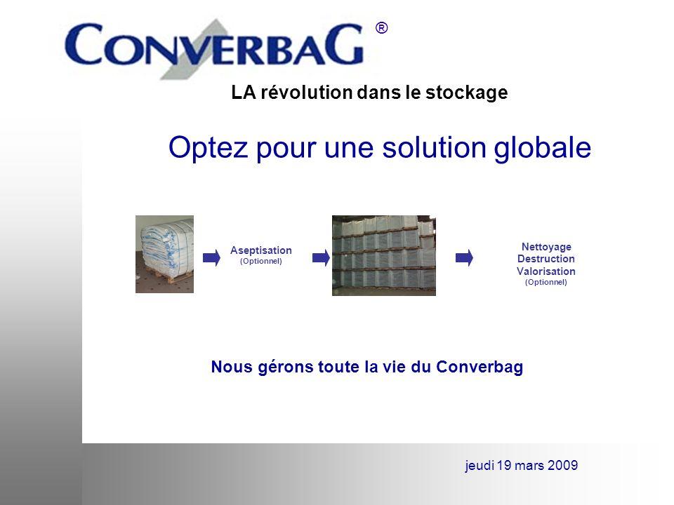 Nous gérons toute la vie du Converbag