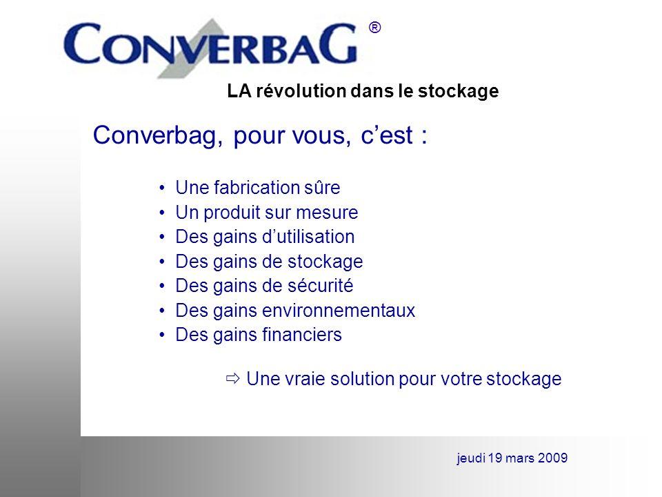 Converbag, pour vous, c'est :