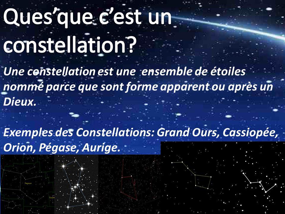 Ques'que c'est un constellation