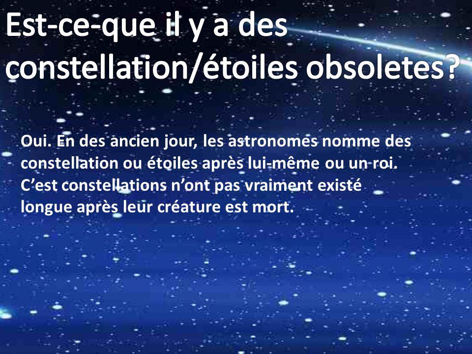 constellation/étoiles obsoletes