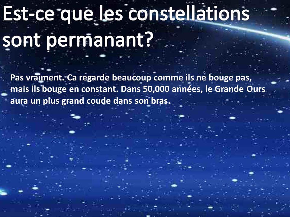 Est-ce que les constellations sont permanant