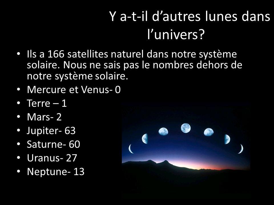 Y a-t-il d'autres lunes dans l'univers