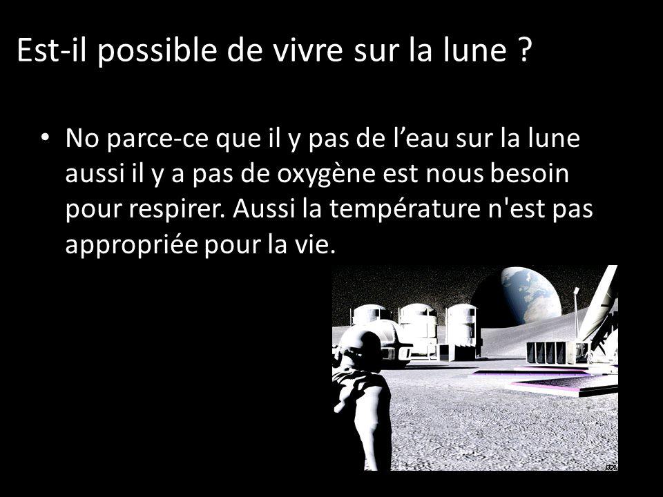 Est-il possible de vivre sur la lune