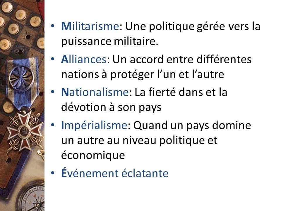 Militarisme: Une politique gérée vers la puissance militaire.