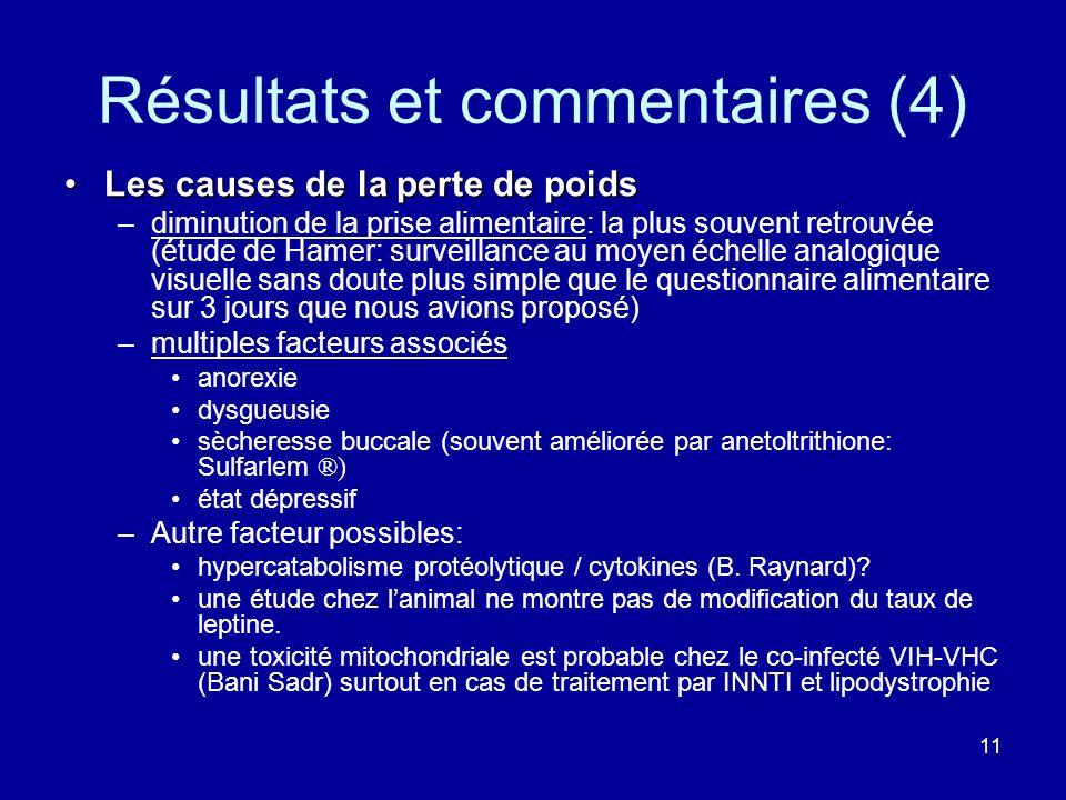 Résultats et commentaires (4)