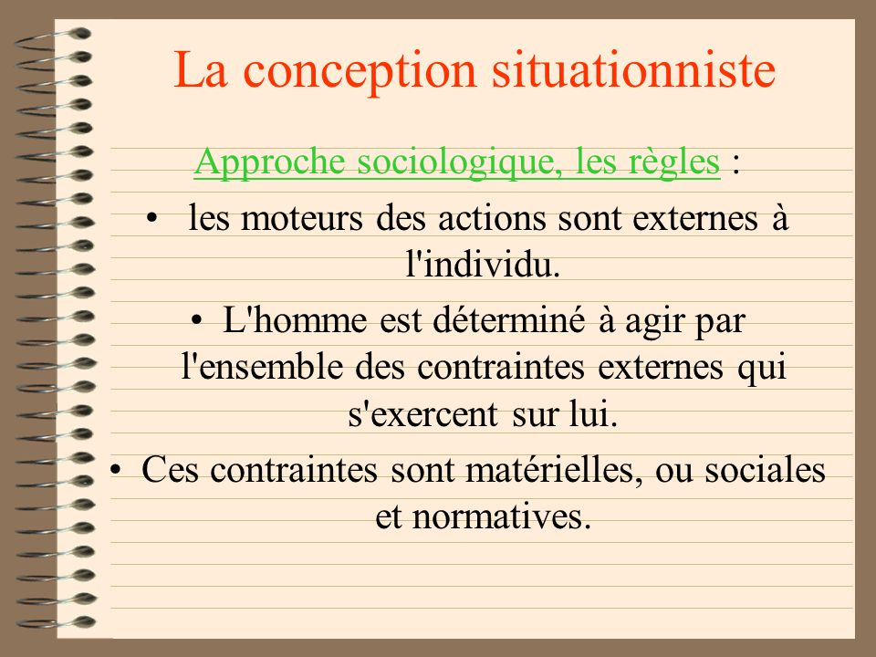 La conception situationniste