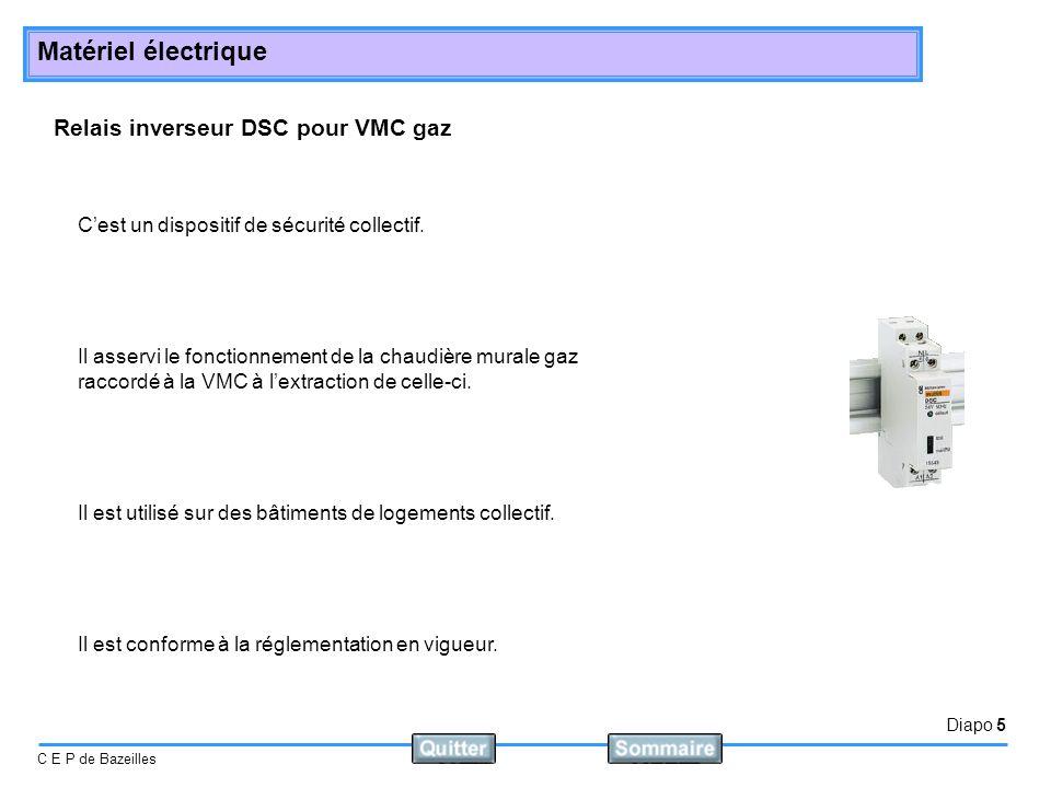 Relais inverseur DSC pour VMC gaz