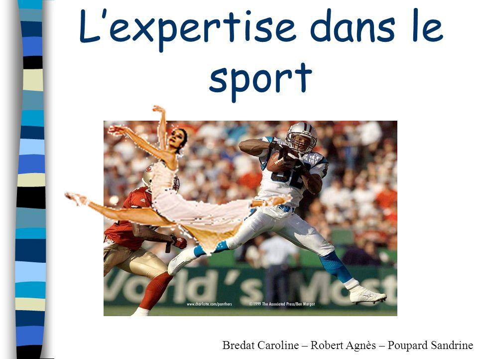 L'expertise dans le sport