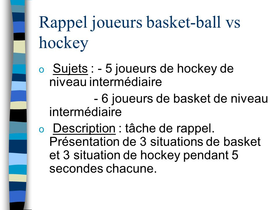 Rappel joueurs basket-ball vs hockey