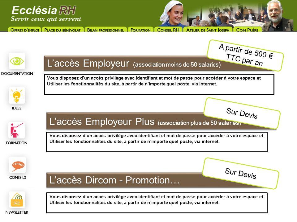 L'accès Employeur (association moins de 50 salariés)