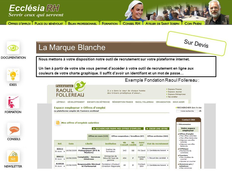 La Marque Blanche Sur Devis Exemple Fondation Raoul Follereau :