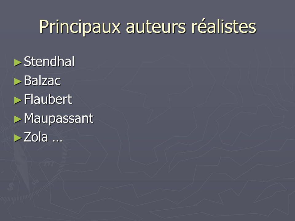 Principaux auteurs réalistes