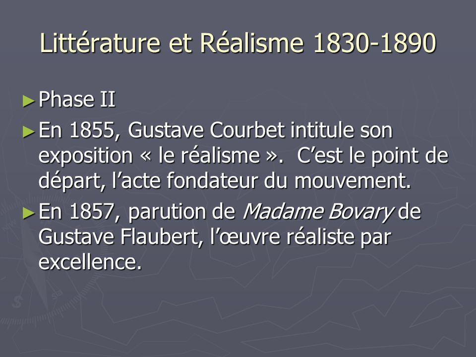 Littérature et Réalisme 1830-1890