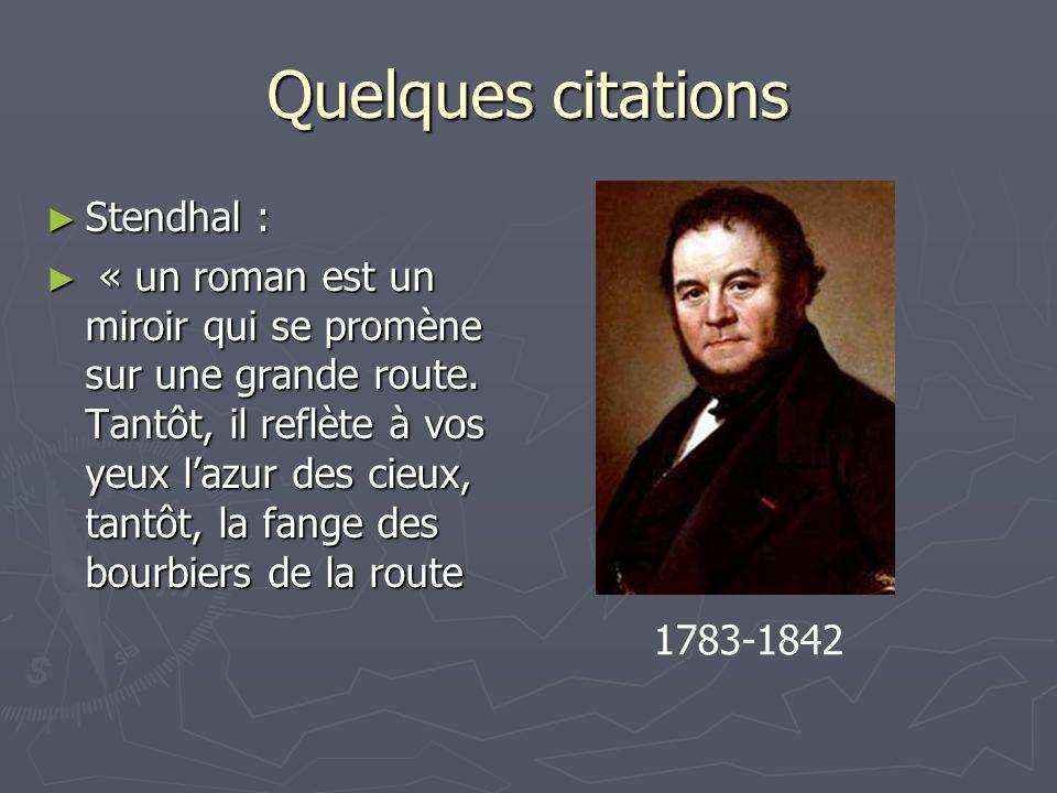 Quelques citations Stendhal :