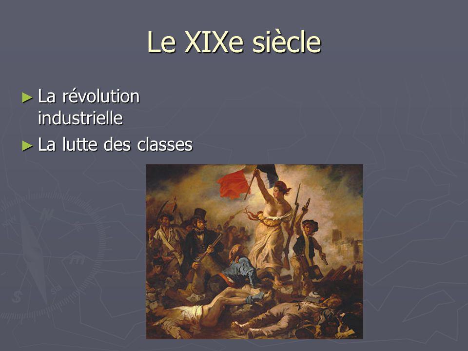 Le XIXe siècle La révolution industrielle La lutte des classes