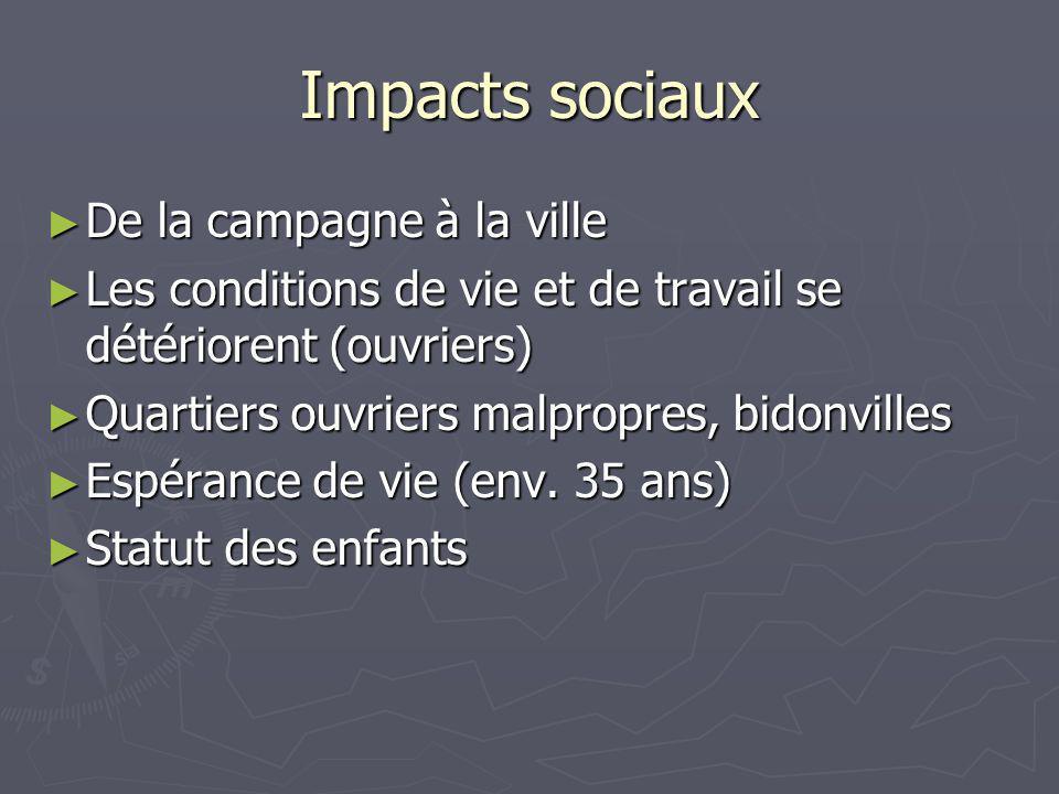 Impacts sociaux De la campagne à la ville