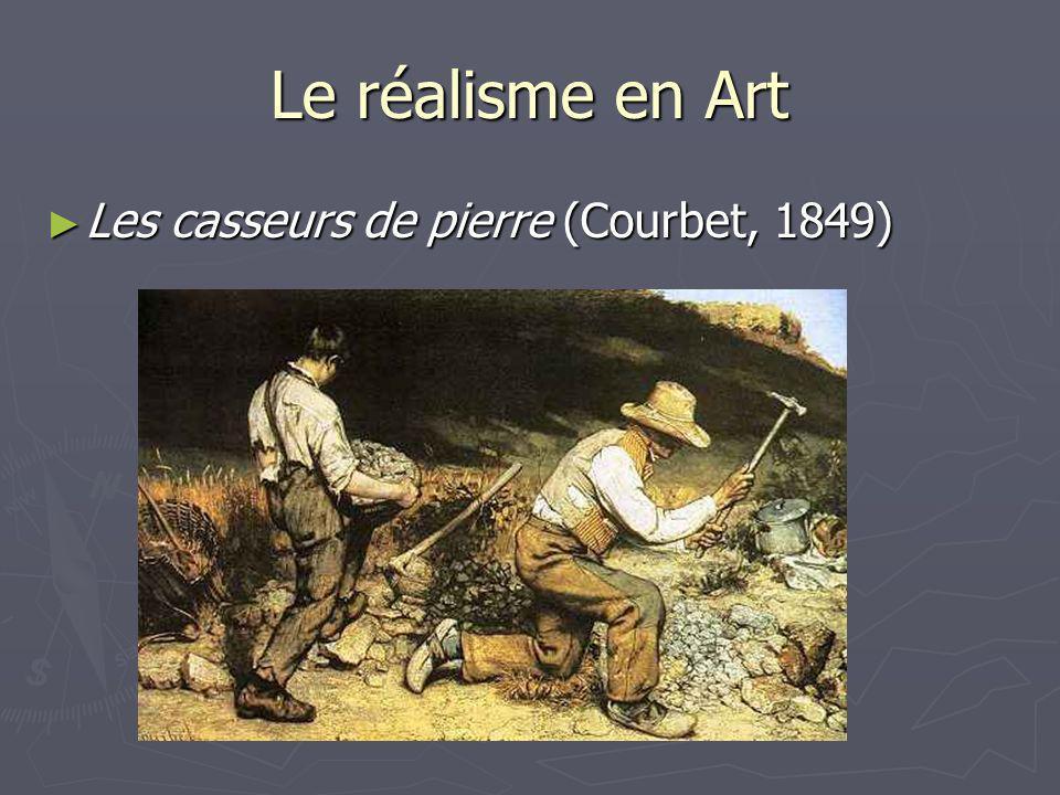 Le réalisme en Art Les casseurs de pierre (Courbet, 1849)