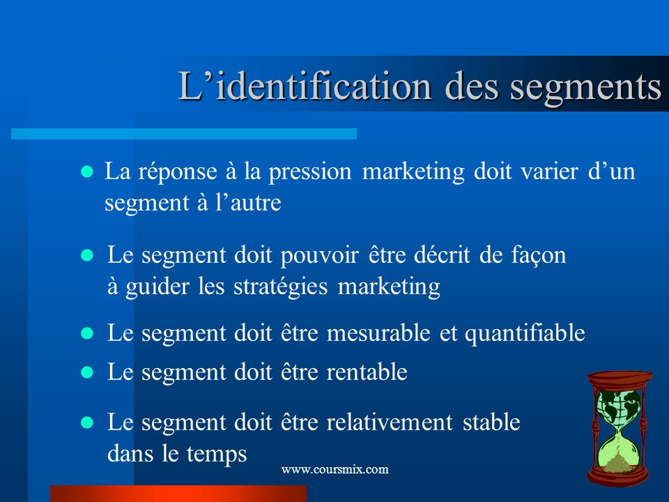 L'identification des segments