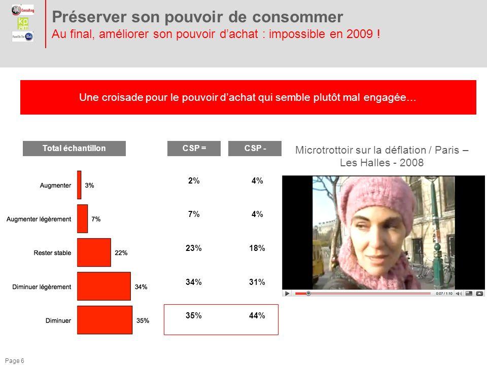 Préserver son pouvoir de consommer Au final, améliorer son pouvoir d'achat : impossible en 2009 !
