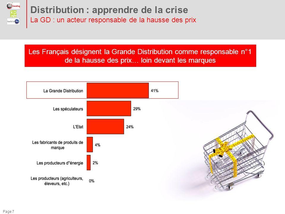 Distribution : apprendre de la crise La GD : un acteur responsable de la hausse des prix