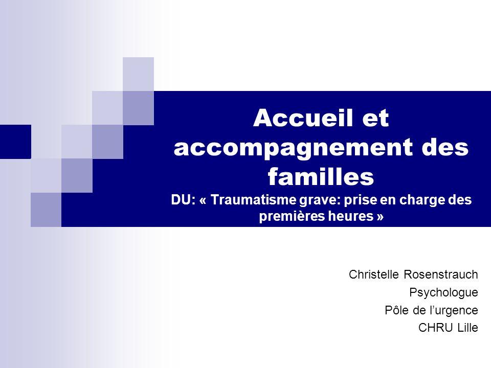 Christelle Rosenstrauch Psychologue Pôle de l'urgence CHRU Lille