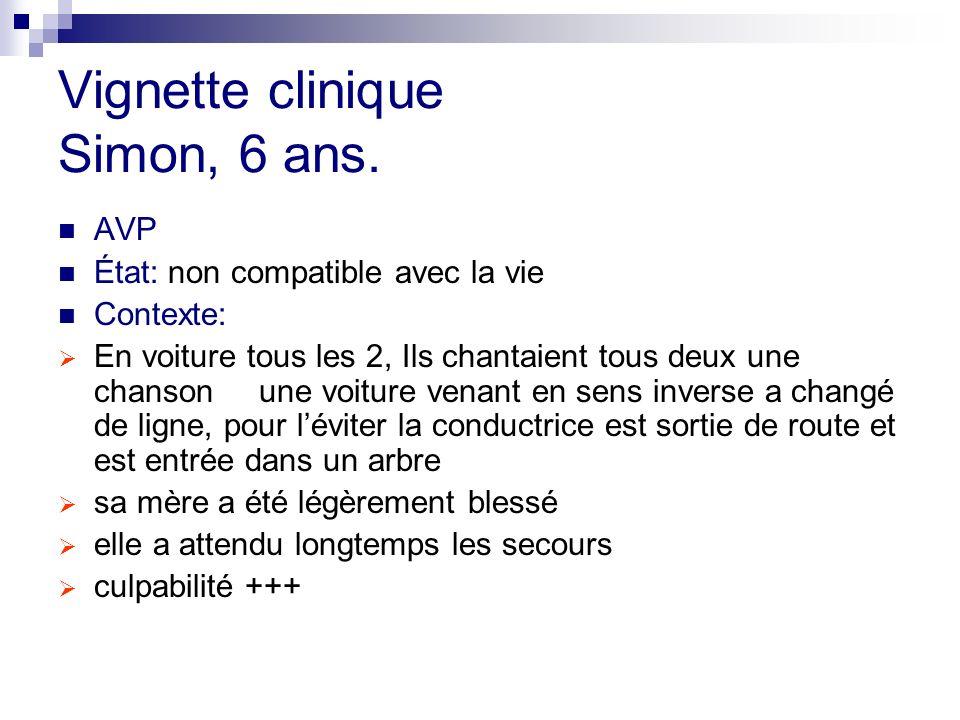 Vignette clinique Simon, 6 ans.