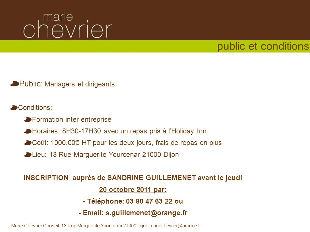 - Email: s.guillemenet@orange.fr