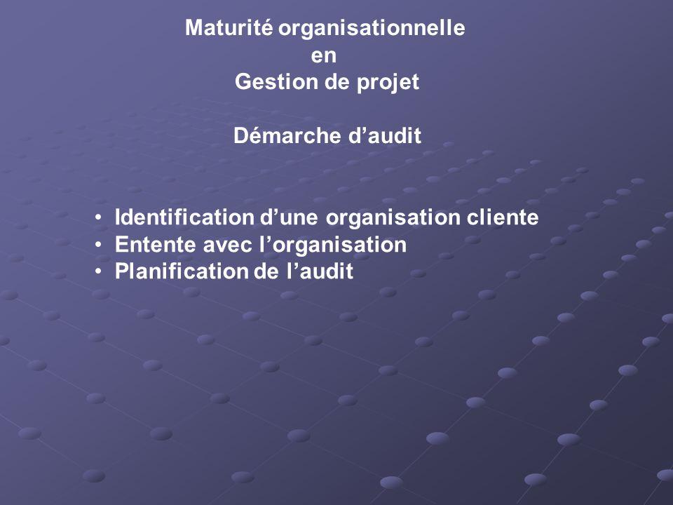 Maturité organisationnelle