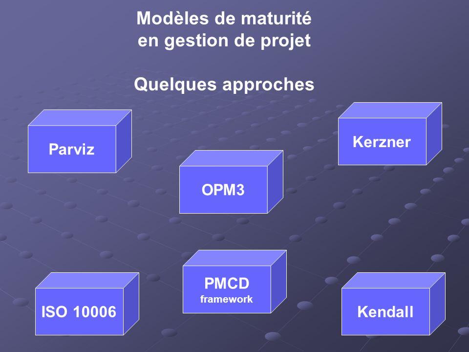 Modèles de maturité en gestion de projet Quelques approches